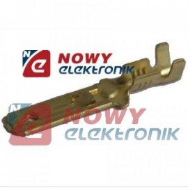 Konektor M 4,8 E długi + zaczep przewód 4mm
