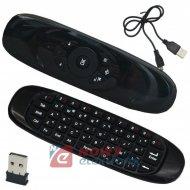 Klawiatura + pilot 2,4GHz C120 czarna radiowa bezp.USB Pilot Air mouse