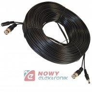 Kabel wt.BNC + wtyk DC 20m do kamer video+zasilanie