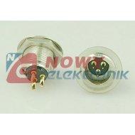 Wtyk mikrof.mini 3 pin mont.met. mini XLR