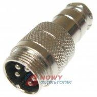 Gniazdo męskie NC825(5-M) na kab 5A 125V CB 5 wtyk prosty na kabel