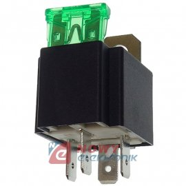 Przekaźnik samochodowy 30A +bezp bezpiecznik FLS825FU z bezpiecznikiem