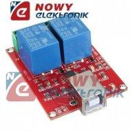 Moduł 2 przek. z USB do ARDUINO zasil.:5V 10A/250VAC/30VDC  KLON