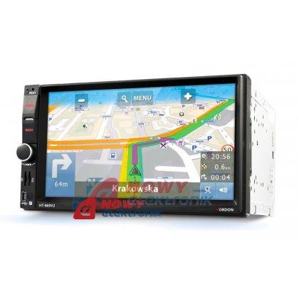 Radio samoch.Dignity HT-869V2   2DIN Bluetooth/GPS/microSD/wejscie AV