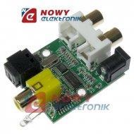Konwerter sygnału audio A/C OEM płytka ziel.2xRCA--SPDIF Toslink+Coaxial