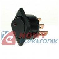 Przełącznik R13203L01BBRL1 ON-OFF 1 tor czarny podsw.led 12V