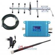 Wzmacniacz GSM zestaw do 350m  890-915MHz/935/960MHz (ant.logarytm)