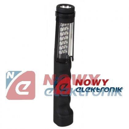 Latarka 21LED + 1x 1W LED