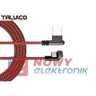 Kabel USB Wt.A-USB-C 1m kąt.2A 180° TALVICO wtyk-wtyk