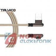 Kabel USB - Lightning kąt. 1m TALVICO max.2A wtyk-wtyk Iphone
