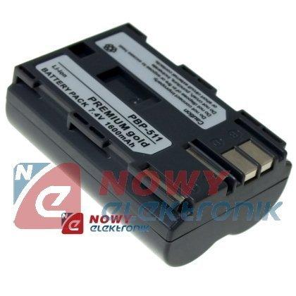 Akumulator do kamer BP-511 1680N BP-512 1600mAh 7.4V zam. dla CANON