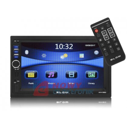 Radio samoch.BLOW AVH-9880 GPS 2DIN Bluetooth/PILOT  4x50WATT USB/SD/MM