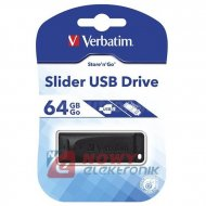 Pamięć PENDRIVE 64GB Slider VERB VERBATIM USB 2.0