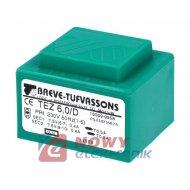 TEZ6/D/7.5-7.5V 6VA    Transfor. zalewany 230V / 2x7.5V