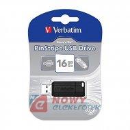 Pamięć PENDRIVE 16G Verbatim Pinstripe USB 2.0