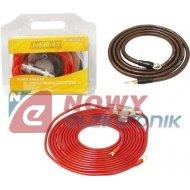Zestaw montażowy CAR-AudioLXZ001 Kpl.kabli do wzmacniacza samoch.