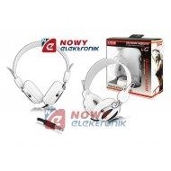 Słuchawki LTC54 nauszne białe jack 3,5mm