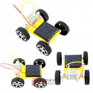 Zestaw solarny - samochód zasilany bateriami  słonecznymi