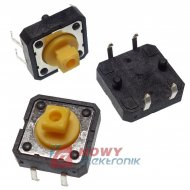 Mikroswitch 12x12x7,3mm(3,8) TM118B A07 przewlekany do klaw.