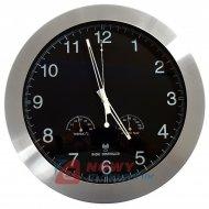 Zegar ścienny DCF 35cm alum. z termometrem, higrom. VELLEMAN