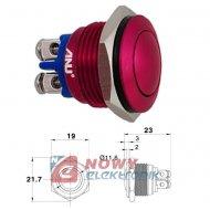 Przycisk GQ16-B/R okr.czerw.16AB metal.red /16mm/IP67/2A/36VDC