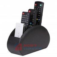 Pudełko na piloty w eko skórze OPTICUM RED/stojak na piloty TV/SAT/DVD