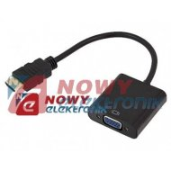 Konwerter HDMI/VGA D-SUB FULL HD wejscie HDMI/wyjscie VGA
