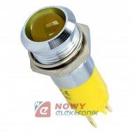 Kontrolka LED 24V żółta    14mm 24-28VDC IP67 metal