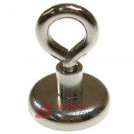 Magnes neodymowy 32mm z uchwytem (uchem) 25kg