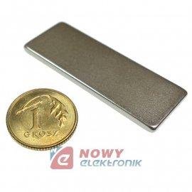 Magnes neodymowy 40x15x2 N42
