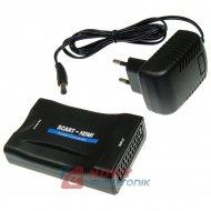 Konwerter sygnału EURO/HDMI wej.SCART wyj.HDMI + zasilacz
