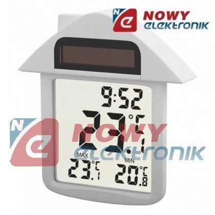 Termometr OKIENNY OT3335S zew. + zegar SOLARNY -30-+60°C E3335 LCD