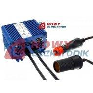 Reduktor 24/12 PE-16N USB Prąd ciągły 10A, impuls 13A