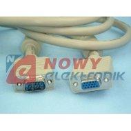 Kabel do mon. HDB15M/F 15m