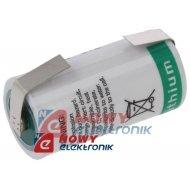 Bateria LS 17330 CNR SAFT litowa z blaszkami 3,6V 2100mAh 2/3A 17x33mm