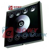 Sterownik LED ściemniacz 4x4A 12-24V czarny podtynkowy dotyk