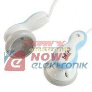 Słuchawki wtyk jack 2.5mm stereo douszne mini jack