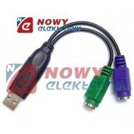 Przejściówka z USB na PS2 UNITEK Y-155 (mysz + klawiatura)