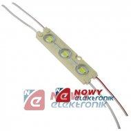 Moduł LED 3x5730 Biały 12V 1,44W VDC IP67 6500K 120lm