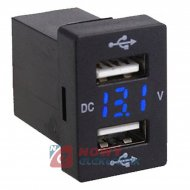 Ładowarka USB 12-24V /5V 3.1A BLUE +VOLTOMIERZ