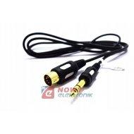 Kabel DIN-Jack 6.3 3m Łezka DIK13 Vitalco