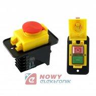 Przeł. do elektr.DKLD DZ07BK10p przycisk przemysłowy,wyłączik (STOP)