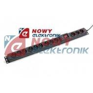 Filtr komp Multi M9+3 4,5m ARMAC 16A czarna Listwa przepięć z wyłącznik.