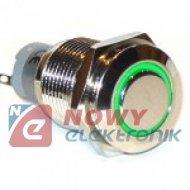 Przycisk LAS2GQF-11-E-G-12VDC-N metal./16mm/oring ziel/3A U303A przycisk