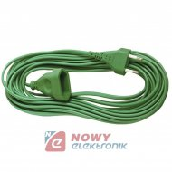 Przedłużacz płaski 1gn 3m ziel. sieciowy zielony