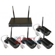 Zestaw monitoringu bezprzew1.3M 4-kanał. WI-FI kamer grafit