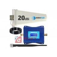 Wzmacniacz LTE+GSM zestaw 350m  (ant.bat+zewn/wzmacniacz)