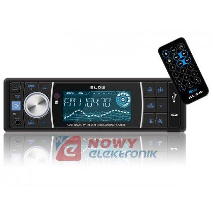 Radio samoch.BLOW AVH-8686 MP3+ USB/SD/MMC pilot bluetooth BT