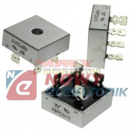 Mostek 50A 1000V KBPC5010 konektory