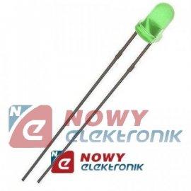 Dioda LED 3mm zielona II